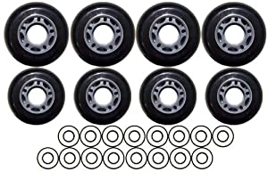 OUTDOOR Roller Hockey Wheels HILO 72 80 ABEC 9 BEARINGS by Pro Stock