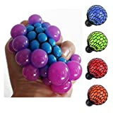 ZLTFashion Anti Stress Face Reliever Grape Ball Autism Mood Squeeze Relief Healthy Funny Tricky Toy Funny Geek Gadget Vent Toy (Blue)