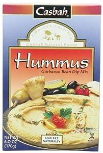 Casbah Hummus, Garbanzo Bean Dip Mix, 6-Ounce Boxes (Pack of 12)