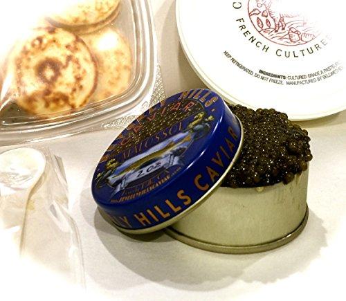 CAVIAR-SAMPLER-Malossol-Osetra-Caviar-50-grams-with-blinis-and-creme-fraiche