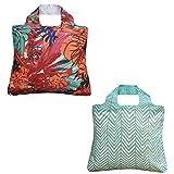 Envirosax Tropic Reusable Shopping Bags, Paradise Found, Set of 2