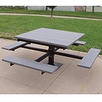Hot Sale Jayhawk Plastics Outdoor T-Table - 6.8'Wx6.8'D - Green