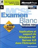 echange, troc Microsoft Corp - MCSE : l'examen blanc Microsoft Windows NT Enterprise