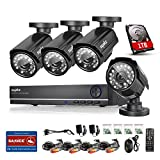 [Crazy Deals] SANNCE 8CH 960H DVR 1TB HDD QR Code Quick View Home Security System 4 Outdoor Weatherproof 900TVL High Resolution Day/Night IR-Cut Built-in Surveillance Cameras System