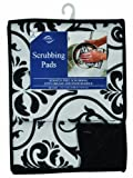 Envision Home 451500 2-Pack Microfiber Scrubbing Pads, 6 by 8-Inch