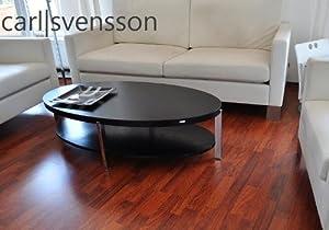 DESIGN COUCHTISCH O111 schwarz oval Carl Svensson NEU Tisch  Kundenbewertung und Beschreibung