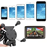 Floureon Universal Motorcycle Phone Mount Holder USB Charger for iPhone, Samsung and GPS Device