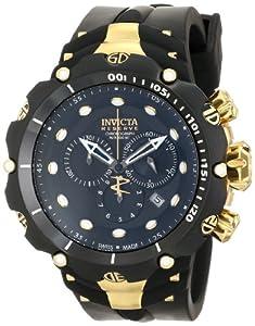 Invicta Men's 1521 Venom Analog Display Swiss Quartz Black Watch