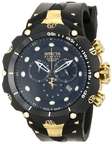 Invicta Men's 1521 Venom Analog Display Swiss Quartz Black Watch