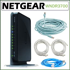 Cable  Gigabit Ethernet on Wireless Dual Band Gigabit Router With Ethernet Cat 5e Cable Bundle