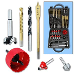 Wood Tool Accessory Set - 45 Piece