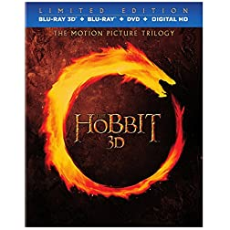 The Hobbit: Motion Picture 3D Blu-Ray Trilogy [Blu-ray 3D + Blu-ray + DVD + Digital HD]