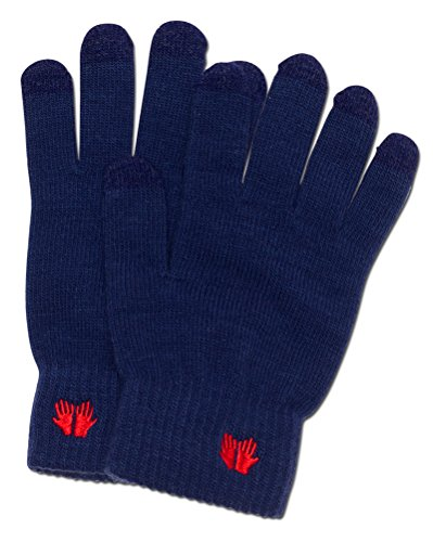 Warm Touch Screen Gloves - for All Touchscreen Devices - Quality Material - Machine Washable (Lady In The Navy Gloves)