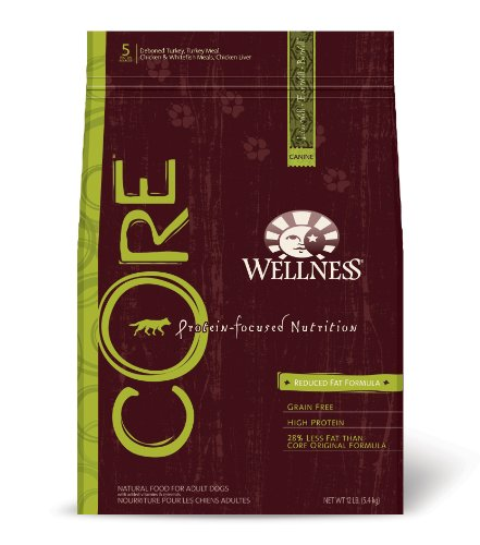 Wellness CORE Grain-Free Dry Dog Food, Reduced Fat Recipe, 12-Pound Bag