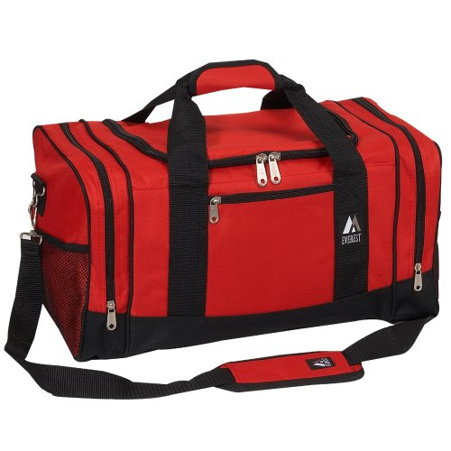 Everest Luggage Sporty Gear Bag, Red/Black, Red/Black, One Size (Gear Vendors compare prices)