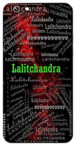 Lalitchandra (A Beautiful Moon) Name & Sign Printed All over customize & Personalized!! Protective back cover for your Smart Phone : Samsung Galaxy A-3
