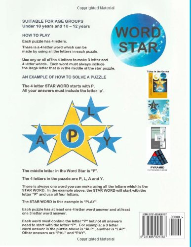 WORD STAR 4 Letter Word Puzzles - Book 1