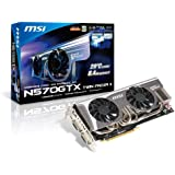 MSI N570GTX TWIN FROZR II NVIDIA GeForce GTX 570 1280MB GDDR5 2DVI/Mini HDMI PCI-Express Video Card N570GTX TWIN FROZR II