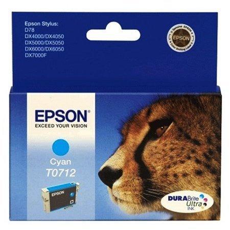 Cartouche encre T071240 - Cyan  pour Epson Stylus D78, DX4000, DX4050, DX5000, DX5050, DX6000, DX...