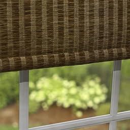 Best Home Fashion Premium Single Roller Window Shade - Brown - 24\