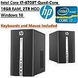 HP Pavilion High Performance Flagship Desktop PC | Intel Core I7-6700T Quad-Core | 2.80 GHz | 16GB RAM| 2TB HDD...