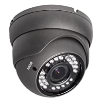 R-Tech RVD70B 700TVL Outdoor Dome Security Camera with Night Vision and 2.8-12mm Varifocal Lens
