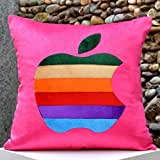 Multi Coloured Apple-Bright Colours And Beautifully Etched Motif In Velvet - B00NMBV26U