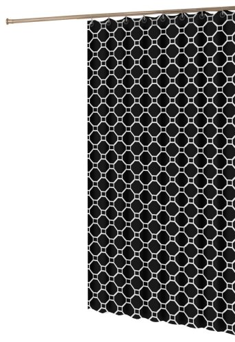 My Style Republic Geometric Black And White Shower Curtain