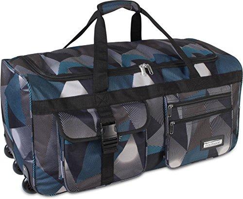 Viaggio e di borsa sportiva con funzione trolley di normani®, Astratto, XXL