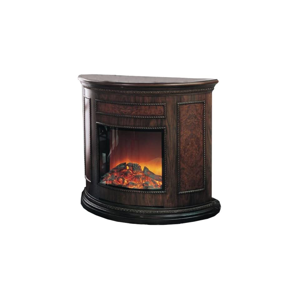 Yosemite Home Decor DF EFP180 Standing Electric Fireplace, Brown