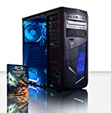 VIBOX Precision 6 - 4.0GHz AMD Quad Core, Ufficio, Famiglia, Gamer, Gaming PC, Multimedia, Desktop PC Computer con WarThunder Gioco Bundle - Oltre a una garanzia a vita incluso* (3.8GHz (4.0GHz Turbo) AMD FX 4300 Quad Core Processor, 2GB Nvidia GT 730 chip grafico, 1TB Hard-Disk, 8 GB 1600MHz RAM, Nessun sistema operativo)