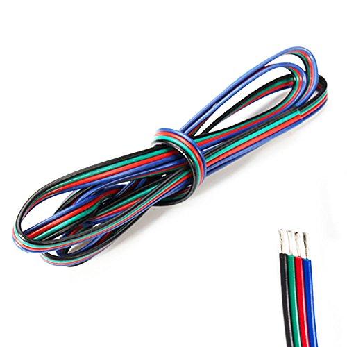 20 m LED RGB Strip Kabel, Verlängerungskabel für 28 (DE) 35/50/50, 4-Pin-Anschluss)
