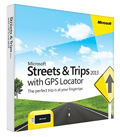 Microsoft Streets and Trips 2013 with GPS