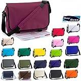 """Original Bag Base Messenger Bag / Kuriertasche / Umh�ngetasche mit Schultergurt und Reissverschlusstaschen in 20 Farben mit Gratis Schl�sselanh�ngervon """"Bag Base"""""""