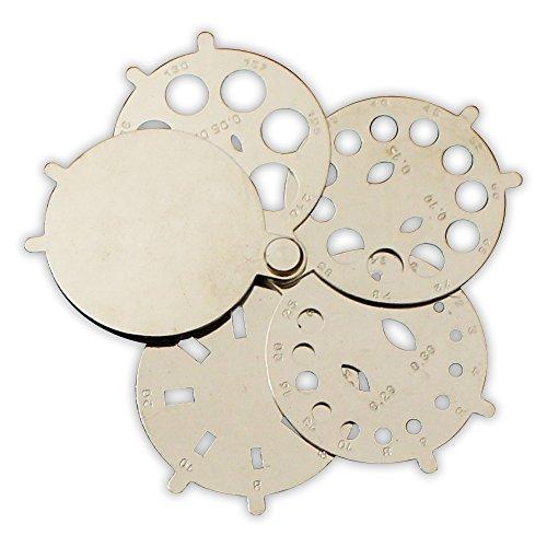 ToolUSA Folding Fan Stone/diamond Gauge: TJ-28046 (Folding Fan Making Supplies compare prices)