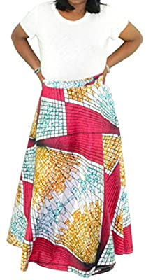 Fashion Island Womens Dashiki Maxi Skirt Mayala Skirt WAX Inspired