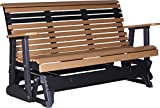 Outdoor Polywood 5 Foot Porch Glider - Plain Rollback Design *CEDAR/BLACK* Color