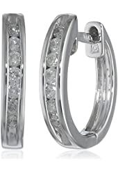 White-Gold Diamond Cuff Earrings (0.25cttw, G-H Color, I2-I3 Clarity)