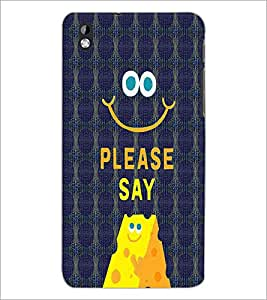 PrintDhaba Quote D-4773 Back Case Cover for HTC DESIRE 816 (Multi-Coloured)