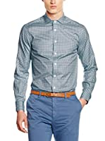 Hackett London Camisa Hombre Royal Twill Check (Verde)