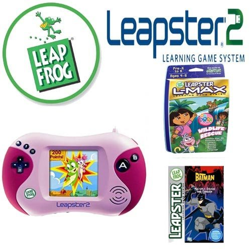 Best Price Leapfrog Leapster 2 Pink Educational Arcade Game Kit