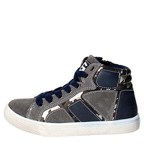 Grunland PO0410 Sneakers Bambino Camoscio Grigio/blu Grigio/blu 31