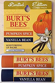 buy Burt'S Bees Limited Edition Combo Pack - Pumpkin Spice & Vanilla Bean Lip Balm