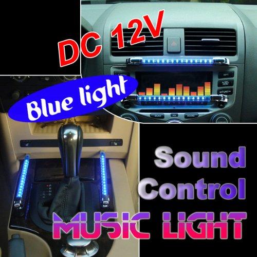 Vktech Dc 12V Blue 2 Pcs 15 Led Car Sound Effect Control Sound Activated Music Light Sw-3046