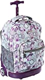 J World New York Sunrise Rolling Backpack, Lemon, One Size
