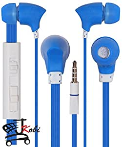 With Volume Control In Ear Bud Headset Earphones With Mic Compatible For InFocus M2 -Blue