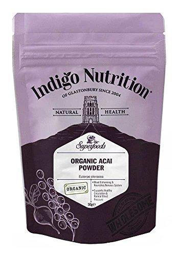 Indigo Herbs - Biologisches Acai Beeren Pulver - 50g (mit Bio siegel)