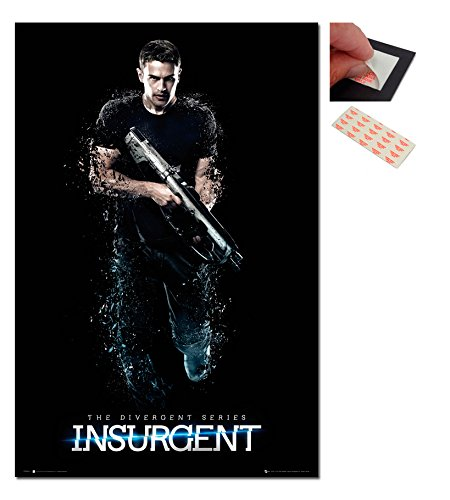 Bundle - 2 Items - Insurgent The Divergent Series Poster - 91.5 x 61cms (36 x 24 Inches) and a Set of 4 Repositionable Adhesive Pads For Easy Wall Fixing