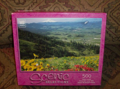 Flowers Over Hood River Valley, Oregon Usa 500 Piece Puzzle