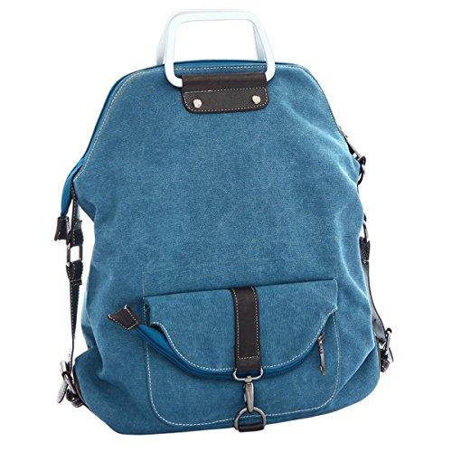 3Way Uso Zaino Canvas, WITERY Uomo Donna Casual Vintage Exquisite K2Borsa di tela borsa borsa a tracolla borse Top-handle scuola borse zaino, Blue (blu) - CLOA0021-03
